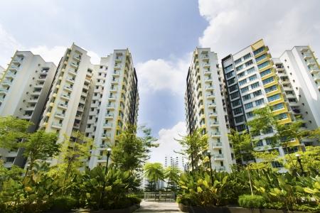 シンガポール政府の新しいアパート メンツ 写真素材
