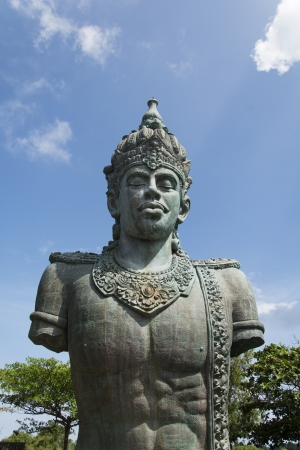a huge statue of Vishnu in Bali