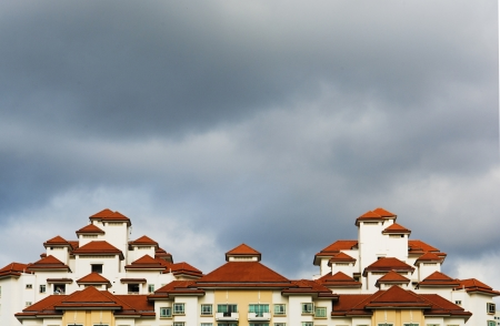 high rise apartments with sky background photo