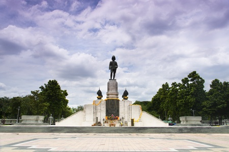 The statue of king Rama IV og Thailand in Bangkok Editorial