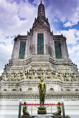 The temple of wat Arun in Bangkok Thailand Stock Photo