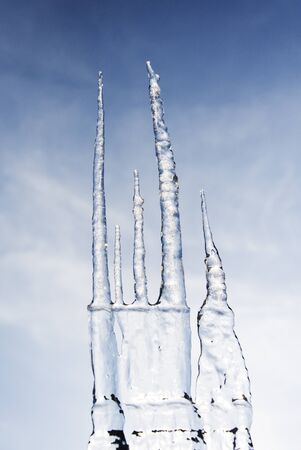 icicles forming Stock Photo