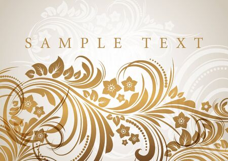 Abstract floral background  Stock Vector - 12455040