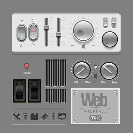 volume knob: Web UI Elements Design Gray