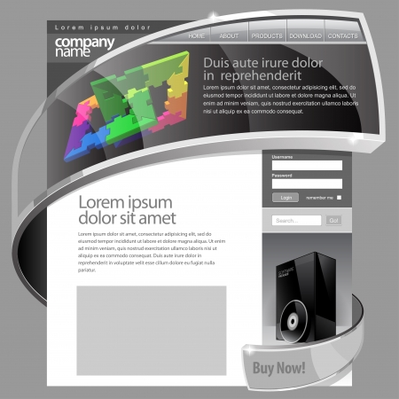 page layout: Gray Website Template 960 Grid