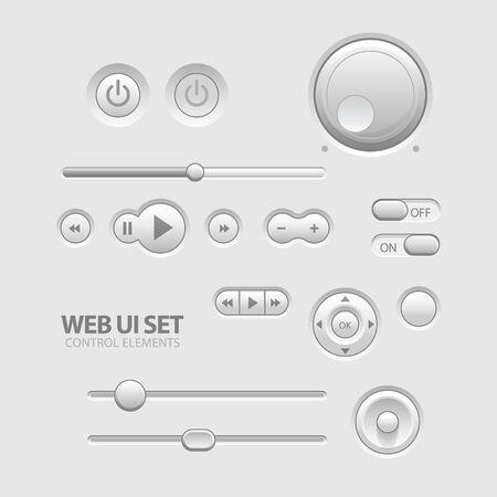 interruttore: Luce Web UI elementi di design Grigio