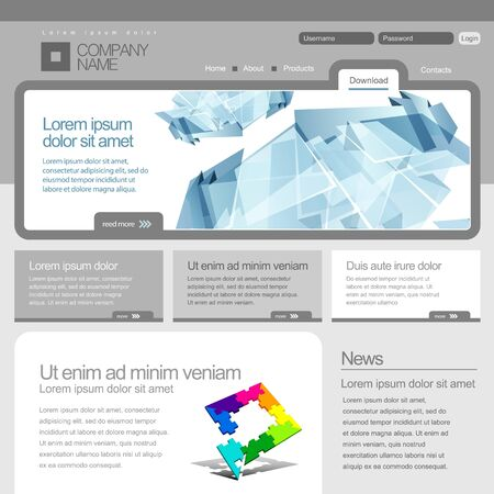 net bar: Gray Website Template 960 Grid