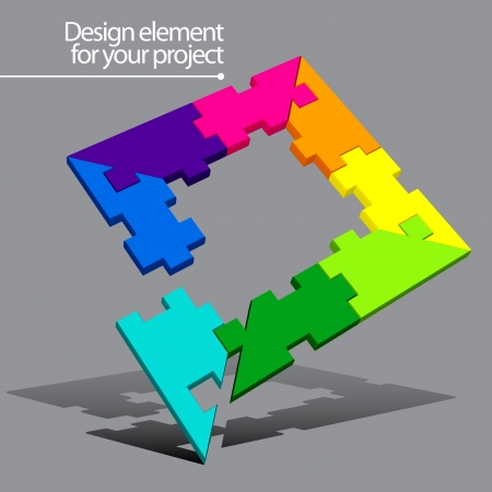 people puzzle: Puzzle vector element for your project