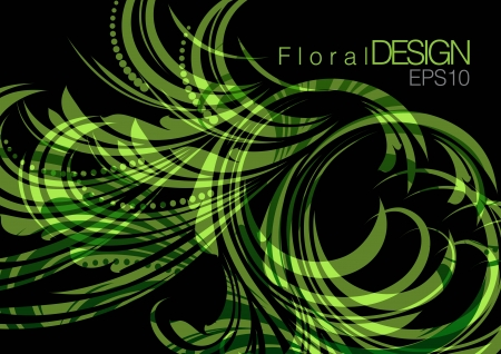 swill: floral background abstract design Illustration