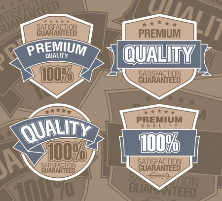 premium label Stock Vector - 13836812