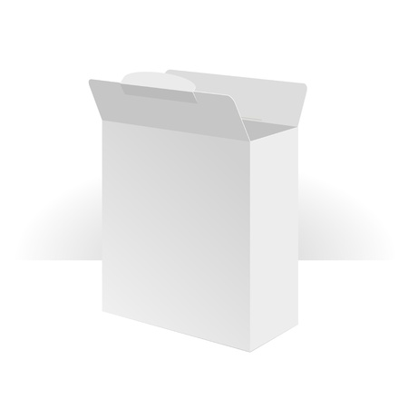 Software Package Carton Blank Box Opened  Vector