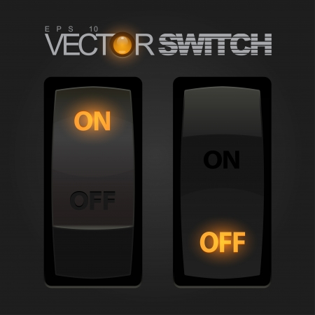 on off: Cool Realistic Toggle Switch Illustration