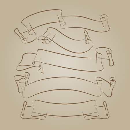 ribbons freehand drawing Vector