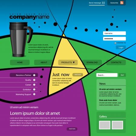 Website design template 960 Grid Stock Vector - 14439561