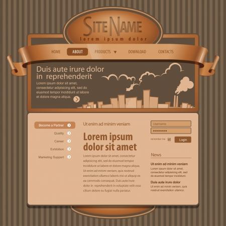 Gray Website Template 960 Grid   Stock Vector - 14439563