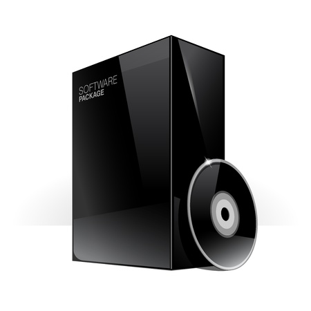 Black Glossy Package Box With DVD Or CD Disk