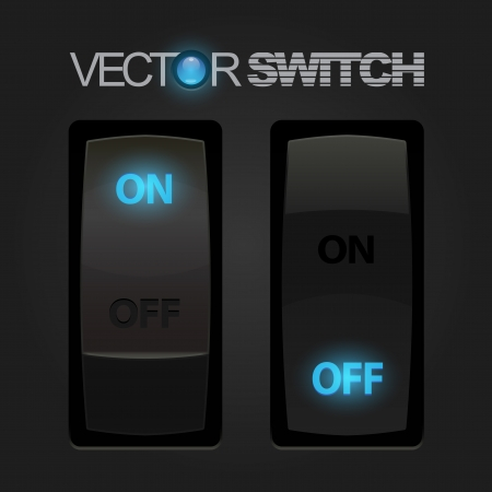 Cool Realistic Toggle Switch  Vector Illustration