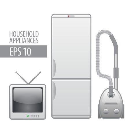 household appliances  icon set  Vector