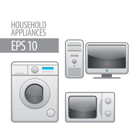 household appliances  icon set Stock Vector - 14958267