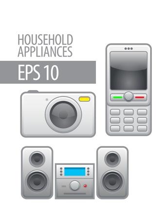 household appliances  icon set Stock Vector - 14958270