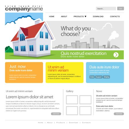 web template: Gray Website Template 960 Grid