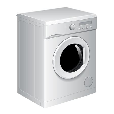laundry machine: Realistic vector washing machine