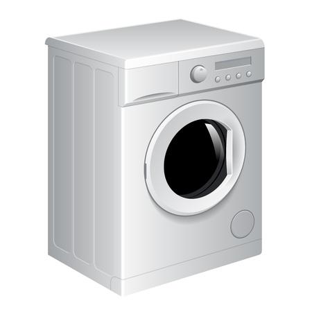 washing clothes: Vector realista lavadora