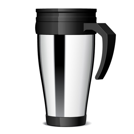 Shiny Metal travel thermo-cup  Illustration