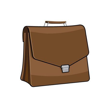brief case: Brown Brief case, vector icon