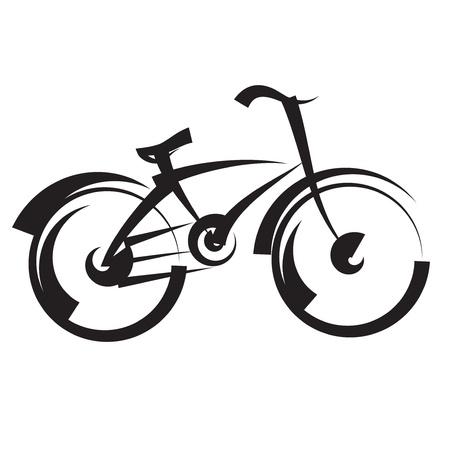 fahrradrennen: bike Freihandzeichnen schwarz und wei� Vektor