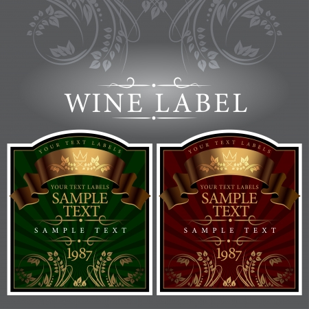 wine label with a gold ribbon Stock Vector - 15596254