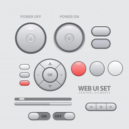 slider: Light Web UI Elements Design Gray