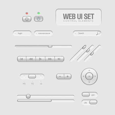 clean off: light Web UI Elements