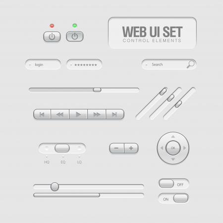 user interface: light Web UI Elements