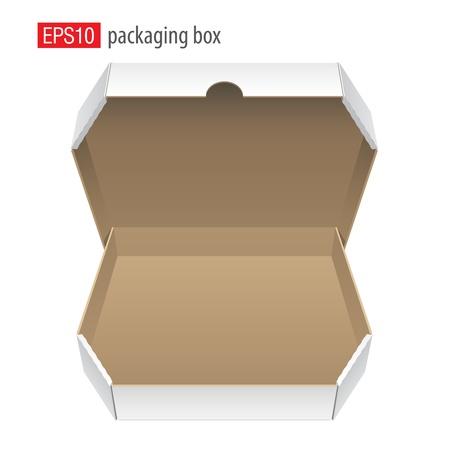 caja de pizza: Caja de cart�n para la pizza Vector
