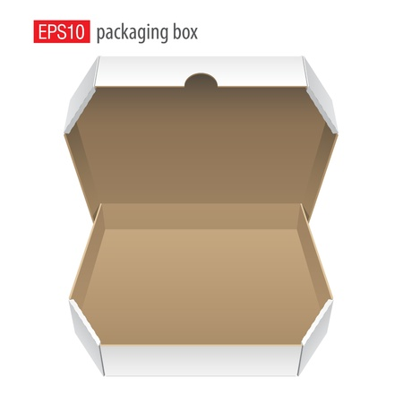 Cardboard Box for pizza  Vector Vector