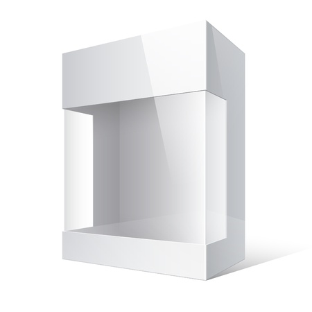 Pakket Box met een transparant plastic venster