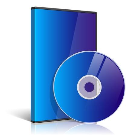 cd case: Caso realista para DVD o disco CD Vectores