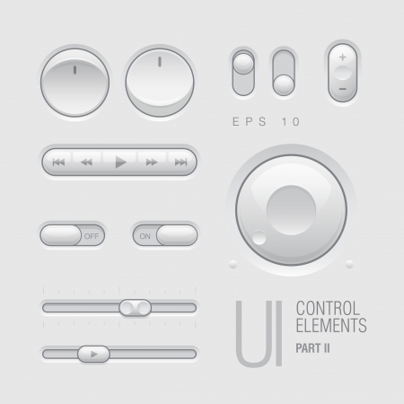 clean off: Web UI Elements   Illustration