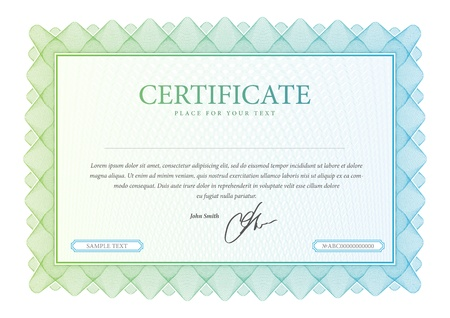 certificate design: Vector pattern that is used in certificate, currency and diplomas