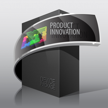 software box: Dark Package Cardboard Box  For presentation Illustration
