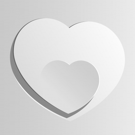 Realistic two Heart cut out of paper  Valentine s day or Wedding vector background Stock Vector - 17180435