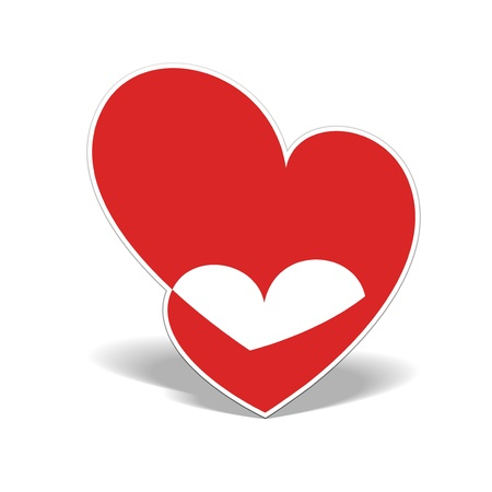Realistic two Heart cut out of paper Stock Vector - 17180452