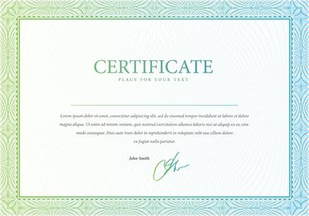 diploma: patr�n que se utiliza en el certificado y diplomas Vectores