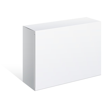 White Package Box  For Software, electronic device Vector
