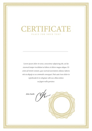 stock certificate: Vector pattern that is used in currency and diplomas