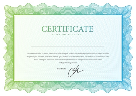 Certificate  Vector pattern that is used in currency and diplomas Vector