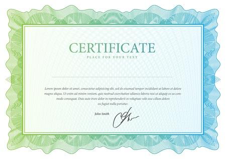 Certificat Vector modèle qui est utilisé dans la monnaie et diplômes