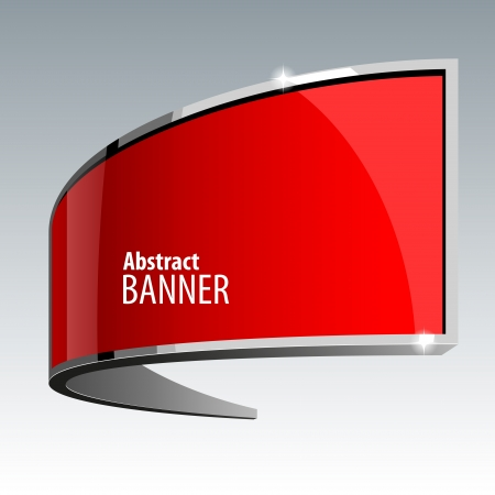 Shiny gloss red banner Vector
