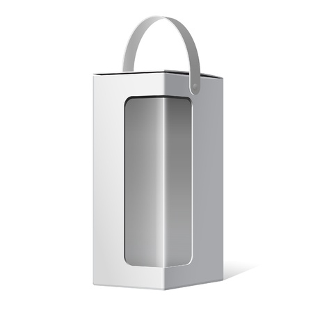 Light Package Box with a handle and a transparent window